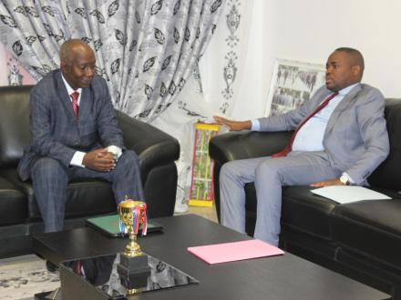 Meeting with Congo's Minister of Culture to set up ABADMUCO.