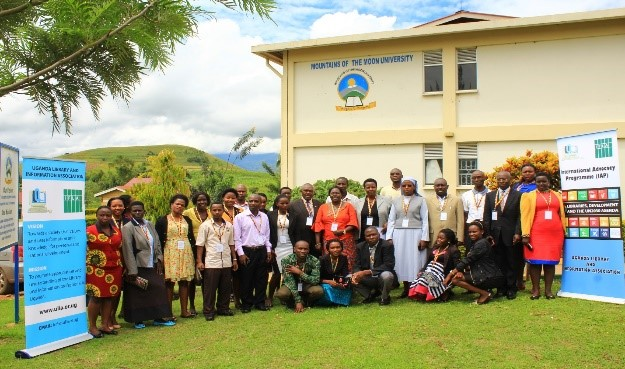 Participants at an IAP workshop at Mountains of the Moon University