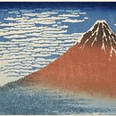South Wind, Clear Dawn, Katsushika Hokusai, 1830-1, copyright Victoria and Albert Museum