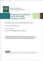 Guidelines for translations of the IFLA ISBD namespace in RDF