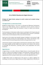 Download the IFLA Manifesto for Digital Libraries