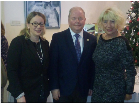 Dijana Machal, President of the Croatian Library Association, Martyn Wade, Chair, FAIFE, Davorka Psenica, Member, FAIFE