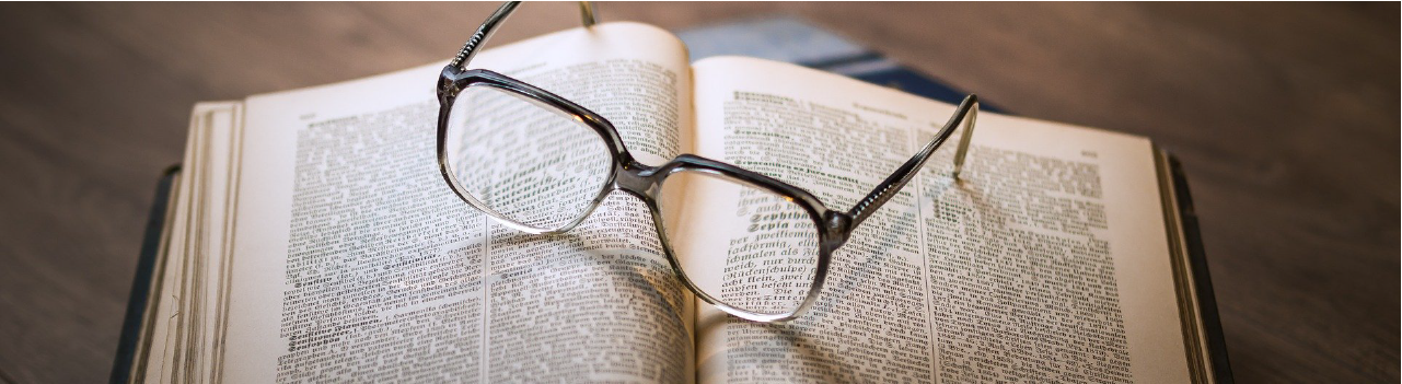 COVID-19 and libraries: book & glasses