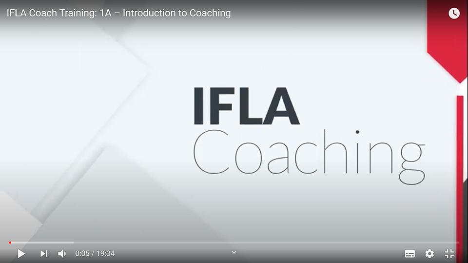 Screengrab from the IFLA Coaching YouTube videos