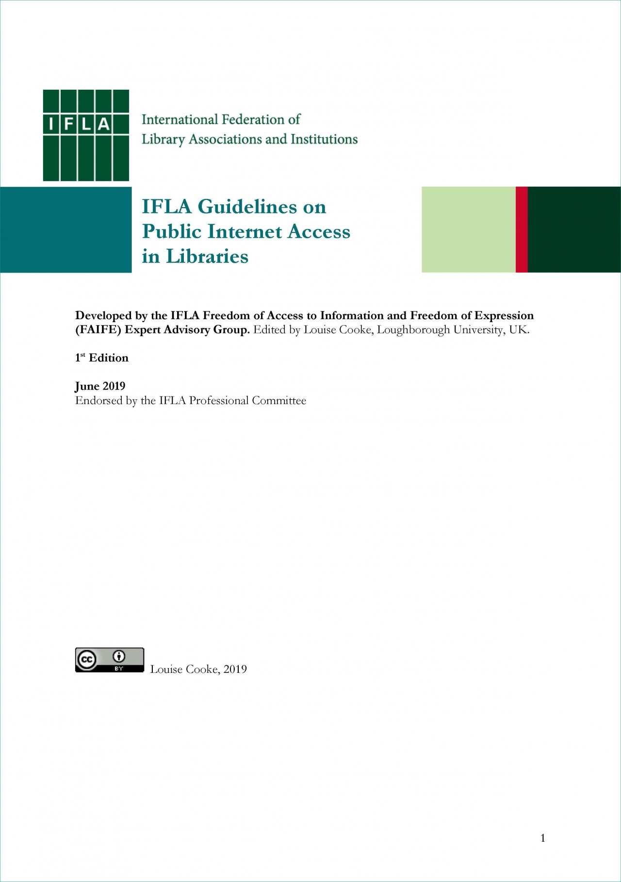 Guidelines on Public Internet Access in Libraries