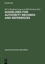 Guidelines for Authority Records and References