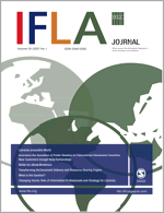 The current cover of IFLA Journal