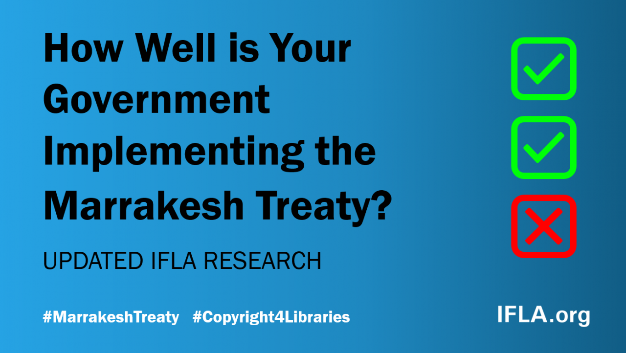 How Well is Your Government Implementing the Marrakesh Treaty?