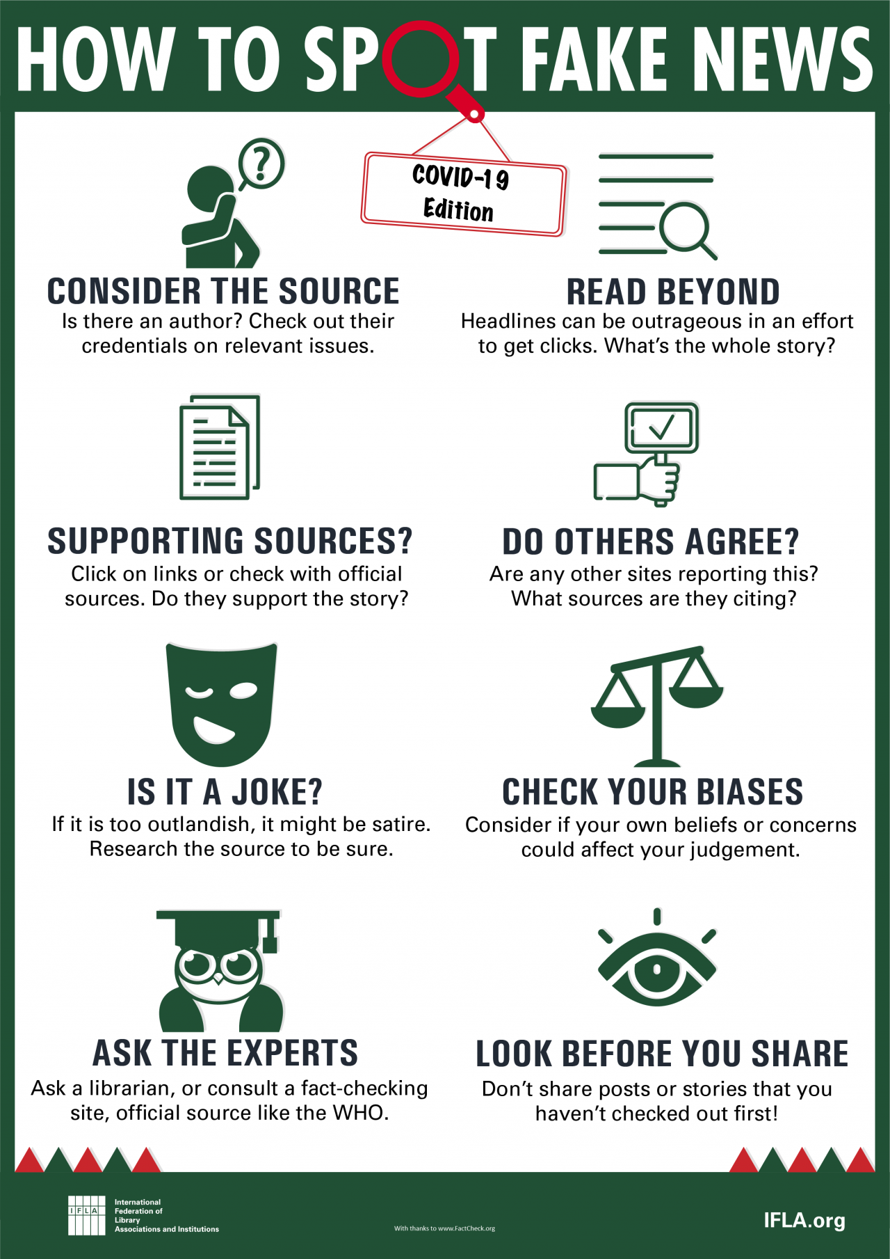 Hot to Spot Fake News - 2019 Edition Infographic