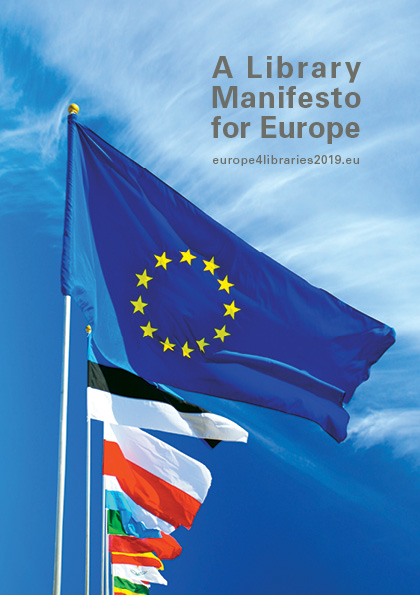 Front cover of the Library Manifesto for Europe