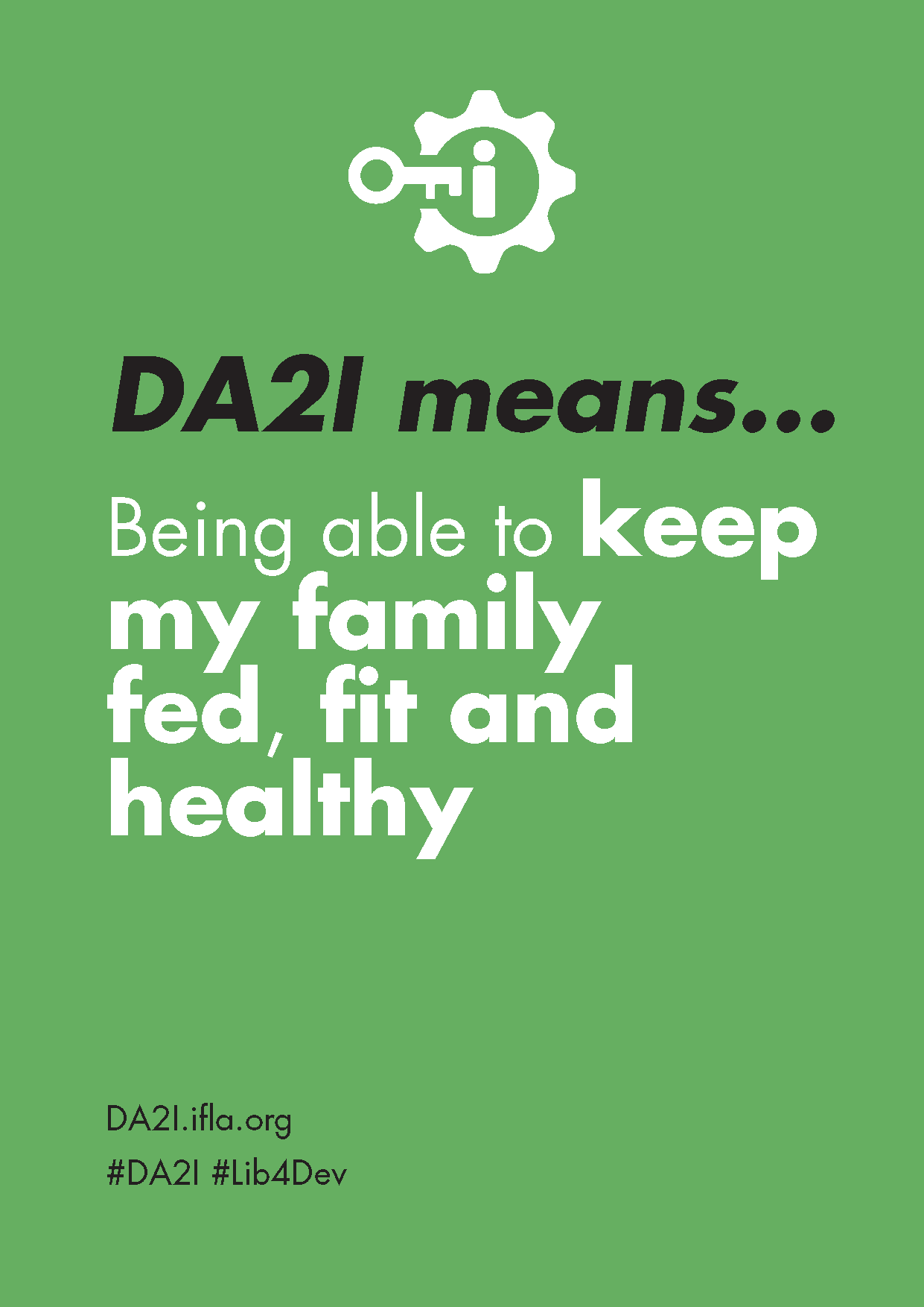 DA2I Postcard: SDG 3 Good health and well-being