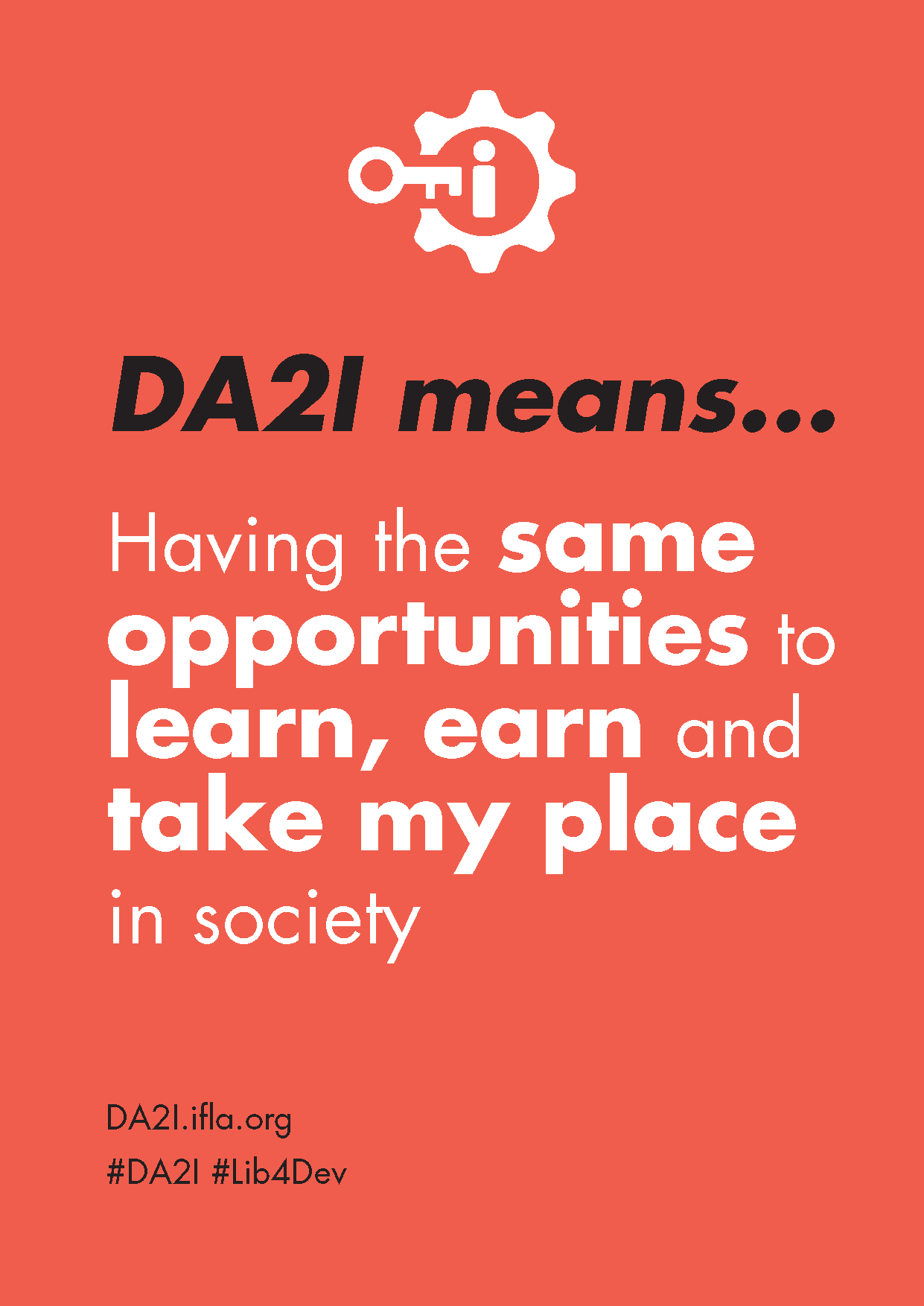DA2I Postcard: SDG 5 Gender equality
