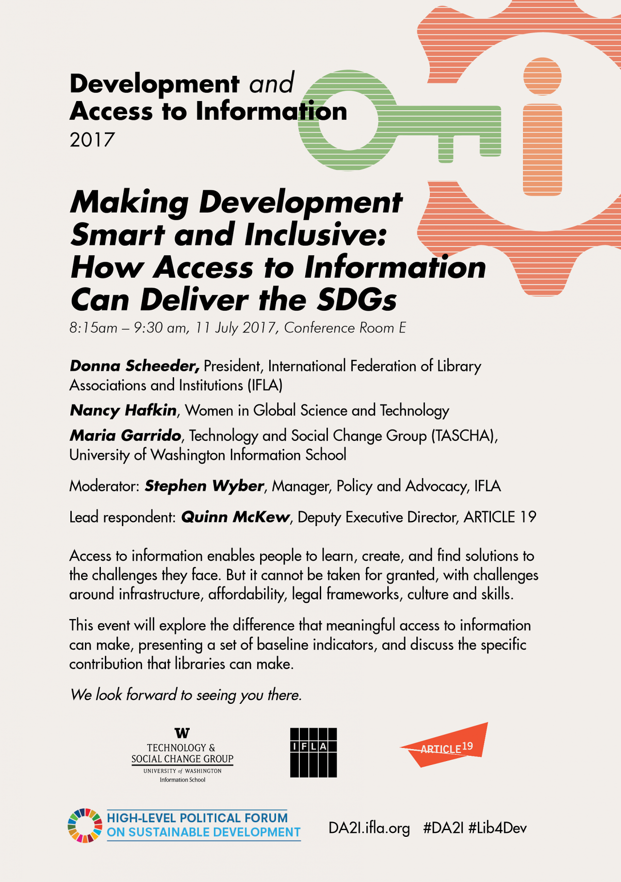 Making development smart and inclusive: How access to information can deliver the SDGs