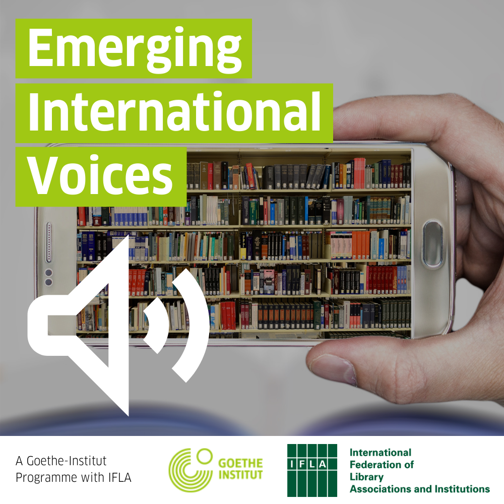 Emerging International Voices graphic