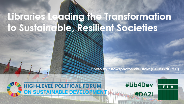 Libraries Leading the Transformation to Sustainable, Resilient Societies