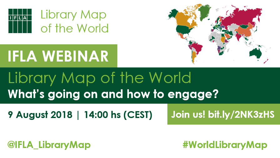 IFLA Webinar: Library Map of the World: What's going on and how to engage?