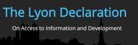 Lyon Declaration on Access to Information and Development