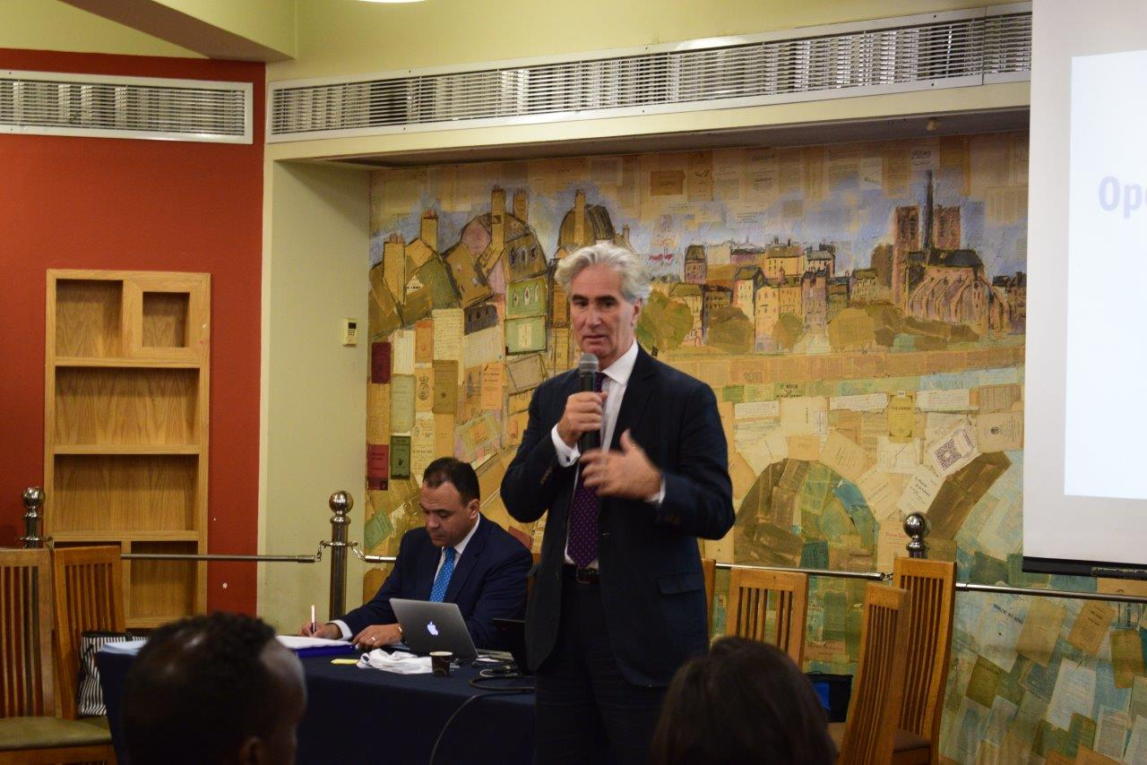 IFLA Secretary General Gerald Leitner at the IFLA MENA Workshop on Strategies for Stronger Libraries, 12-13 November 2019, Alexandria, Egypt