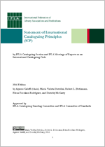 Statement of International Cataloguing Principles (ICP) 2016